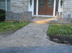 front patio progress