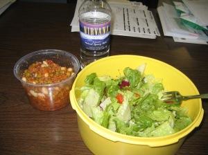Veggie Joe, Beans & a Salad